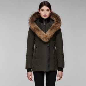 d909e6e193811 MACKAGE ADALI-F5 FITTED DOWN COAT WITH FUR HOO